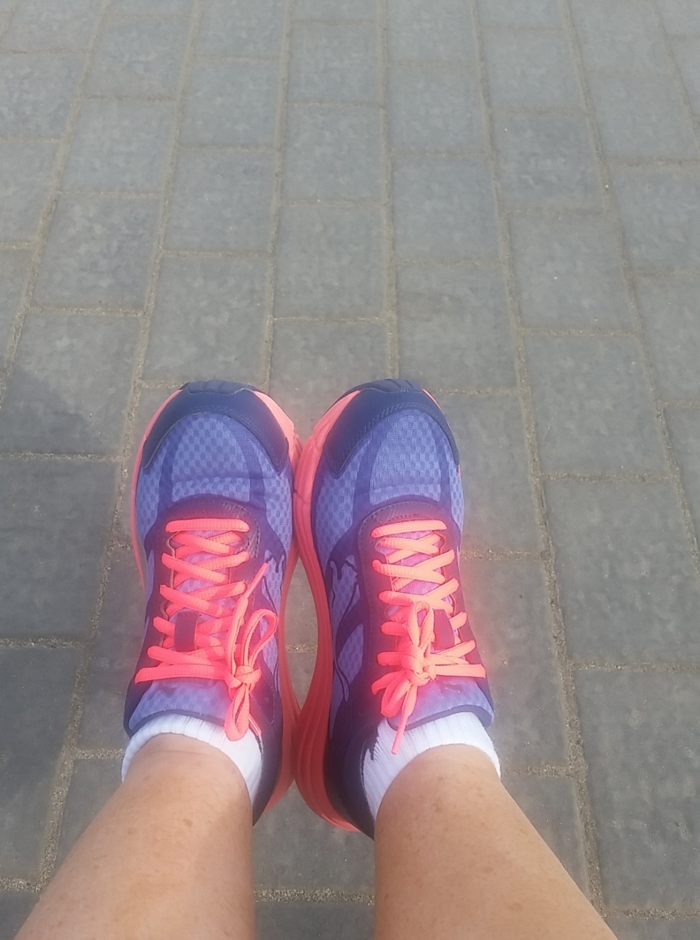 Bright colourful trainers on holiday make Trainers acceptable footwear