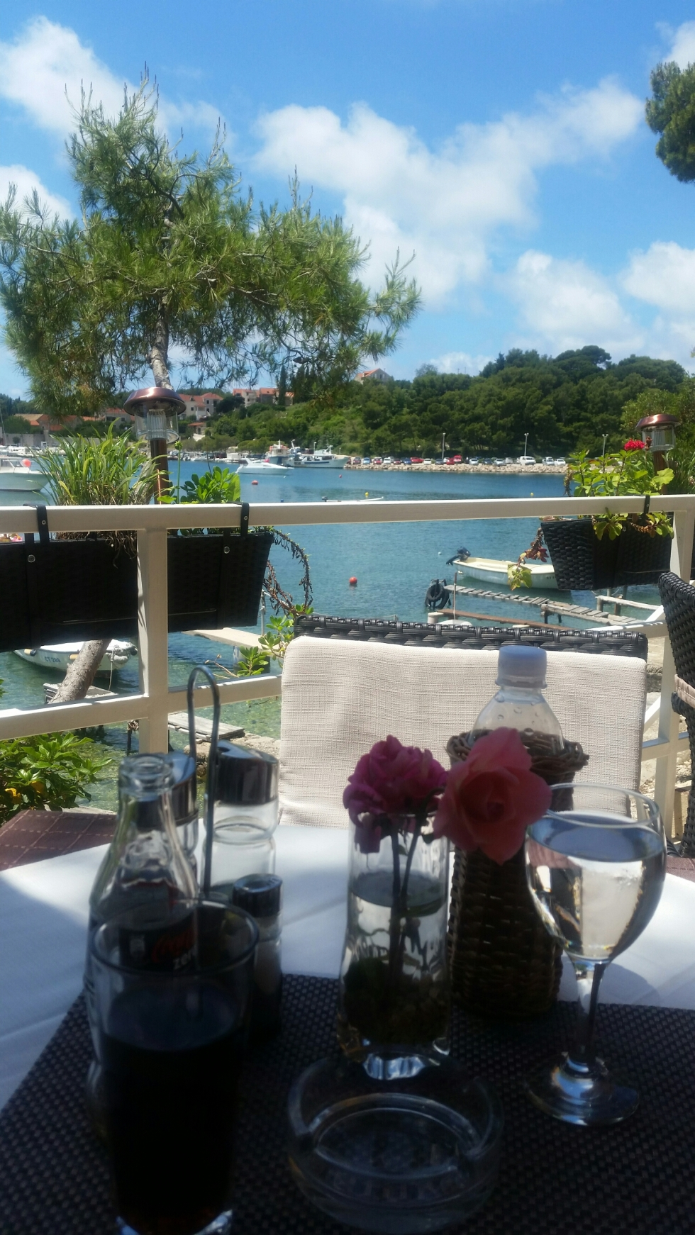 Croatia holiday Dining at Ciparis restaurant Cavtat Croatia